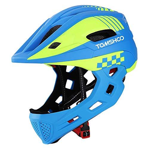 TOMSHOO Kinderfahrrad Integralhelm Kindersicherheit Skateboard Rollerblading Helm Sport Kopfschutz mit...