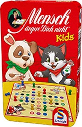Schmidt Sp SSP51273 Mensch ärgere Dich Nicht Kids, Bring Mich mit Spiel in der Metalldose, Bunt