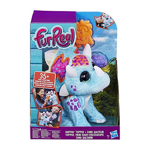 Hasbro FurReal Friends E7963EU4 furReal Topper, Mein Baby-Triceratops, interaktives Plüschtier, mehr als...