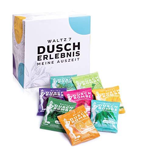 WALTZ7 Original Duschbomben Set, 16 Stück mit 8 Düften, Aromatherapie mit natürlichen ätherischen...