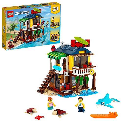 LEGO 31118 Creator 3 in 1 Surfer-Strandhaus, Leuchtturm und Poolhaus, Sommer-Bauset, Spielzeug ab 8...