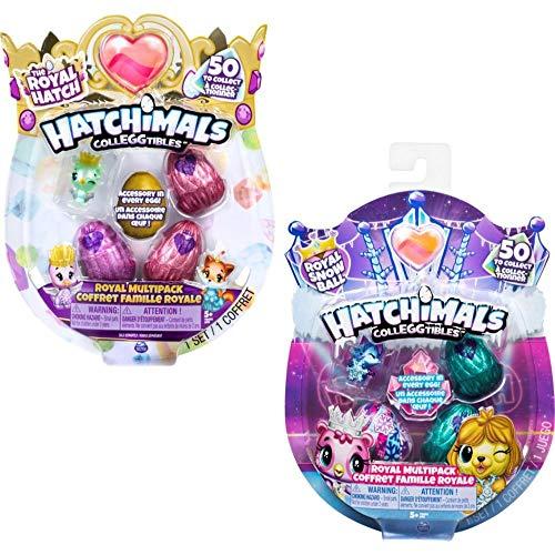 Hatchimals CollEGGtibles Royal Multipack mit 4 Hatchimals und Zubehörteilen, 2 Design - Varianten...