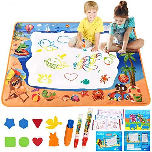 ALLCELE Wasser Doodle Matte Aqua Magic Doodle Malmatte 100*70cm XL Aqua Drawing Painting Matte für...