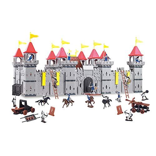 TikTakToo Coole, große Ritterburg mit Spielfiguren Königreich Burg Schloss (Variante A, Ritter in...