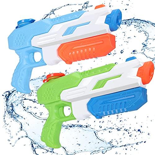 Wasserpistole Spielzeug für Kinder, joylink 2er 650ML Super Soaker Wasserspritzpistole mit 11M...