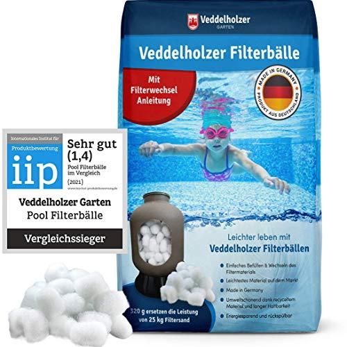 Veddelholzer Pool Filterbälle leichtestes Material für Beste Leistung ersetzt 25kg Filtersand Quarzsand...