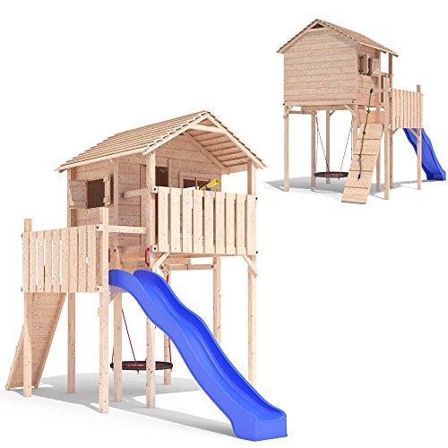 DOMIZILIO Spielturm Spielhaus Kletterturm Spielwelt Rutsche Stelzenhaus Baumhaus