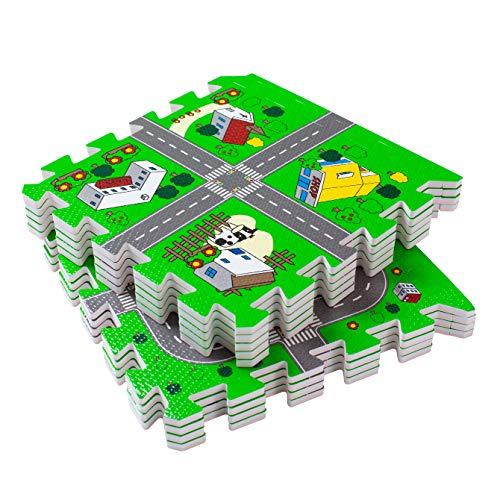 BodenMax Puzzlematte für Babys und Kinder 30x30x1 cm (18 Stück)– Spielmatte, Krabbelmatte,...