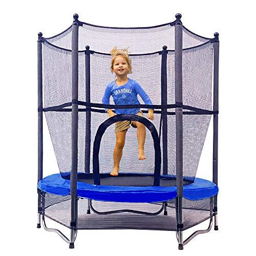 Jumptastic Trampolin für Kinder, 140 cm, Mini-Trampolin mit Netz, W-förmiger Stahlrahmen für Kinder,...