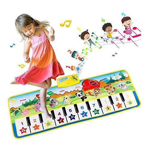 EXTSUD Piano Mat Tanzmatten Klaviermatte Musikmatte Kinder 8 Instrumenten Klaviertastatur Spielzeug Musik...