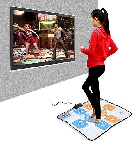 LJXiioo -Tanz-Matten, Doppel Person Anti-Rutsch-Tanz-Tanzen-Pad Blanket Teppich für Nintendo Wii Konsole...