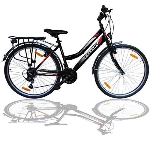 Talson 26 Zoll Damenrad Shimano 21Gang 26' Damen Fahrrad Black mit Beleuchtung nach STVZO