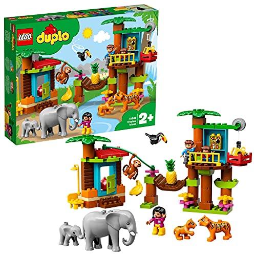 LEGO 10906 DUPLO Town Baumhaus im Dschungel Bauset, Lernspielzeug für Kleinkinder im Alter von 2 - 5...