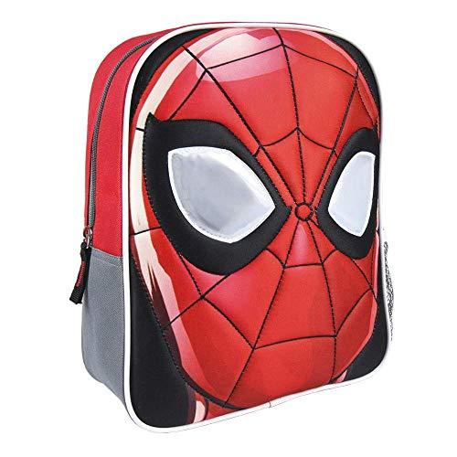 Cerdá Artesania Mochila Infantil Personaje Spiderman Kinder-Rucksack, 31 cm, Rot (Rojo)