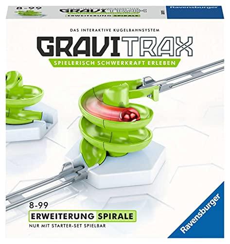 Ravensburger GraviTrax Kugelbahn - Erweiterung Action-Stein Spirale 26811, für Kinder ab 8 Jahren und...