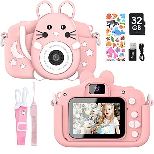 Gofunly Kinderkamera, Digitalkamera Kinder mit 2,0 Zoll Bildschirm 1080P HD 20MP Eingebaute 32GB SD-Karte...
