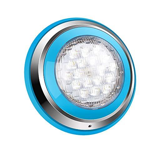 Roleadro 54W Weiß LED Poolbeleuchtung IP68 Edelstahl Schale,Unterwasser Led Pool für Schwimmbad ersatz...
