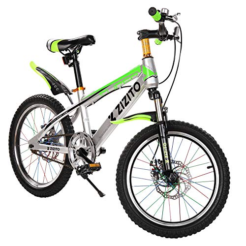 Kinderfahrrad [18 Zoll Grün/ 20 Zoll Rot] Jungen Geschenk Fahrrad ab 7 Jahre mit Fahrradstand Fahrrad...