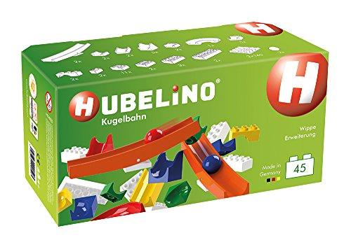 Hubelino 420503 Wippe Erweiterung (45-teilig) Kugelbahn, kompatibel