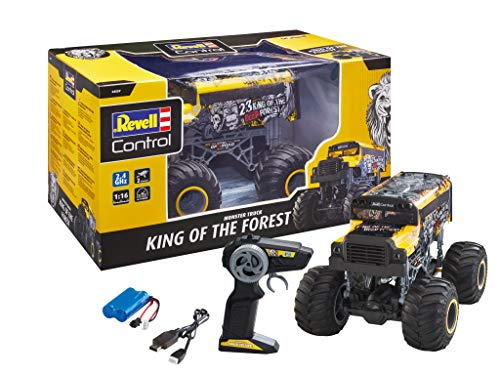 Revell Control 24557 RC Monster Truck King of The Forest, US Schulbus, 2.4 GHz, Rechts-/Linkshänder,...