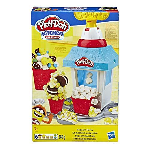 Play-Doh Popcornmaschine mit 6 Dosen Knete, ab 3 Jahren