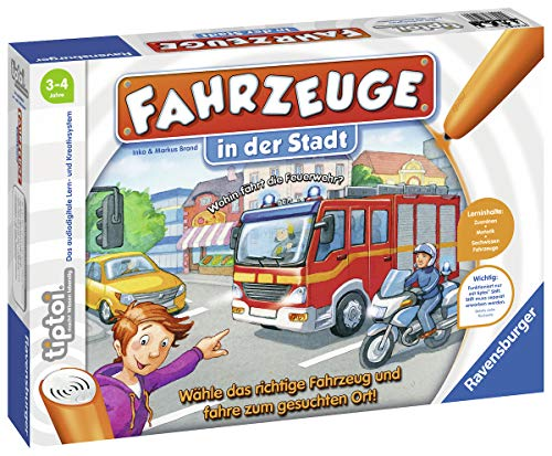 Ravensburger tiptoi Spiel 00848 Fahrzeuge in der Stadt - Lernspiel ab 3 Jahren, lehrreiches...