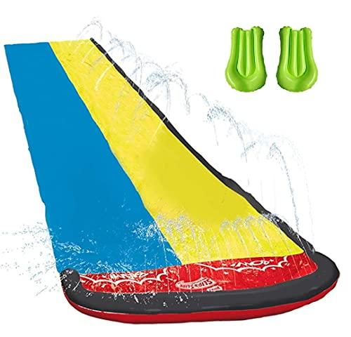 Wasserrutsche mit Surfbrett,16 Fuß Double Racing Lane Slip,Double Racing Slides,Speed Blast Dual...