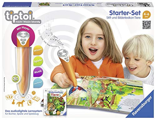 Ravensburger Lernspiel tiptoi Starter-Set mit Stift und Buch Bilderlexikon Tiere - 00508 / Erforsche die...