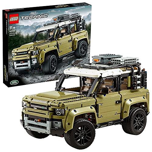 LEGO 42110 Technic Land Rover Defender, Modellauto, 4x4 Geländewagen für Kinder ab 11 Jahre und...