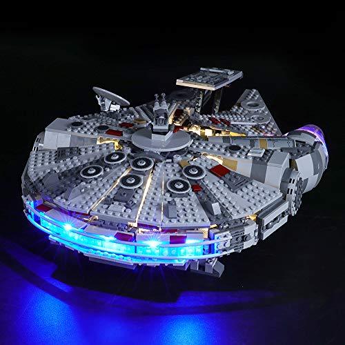 BRIKSMAX Led Beleuchtungsset für Lego Star Wars Millennium Falcon,Kompatibel Mit Lego 75257 Bausteinen...