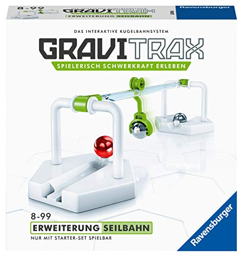 Ravensburger GraviTrax Erweiterung Seilbahn - Ideales Zubehör für spektakuläre Kugelbahnen,...