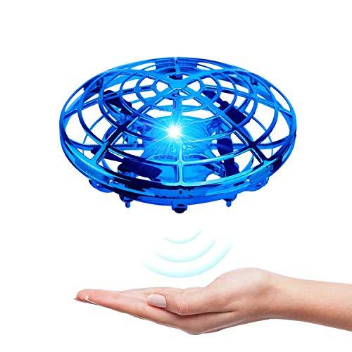 Kriogor UFO Mini Drohne, UFO Flying Ball Fliegendes Spielzeug Helikopter mit 360° Rotierenden und LED...