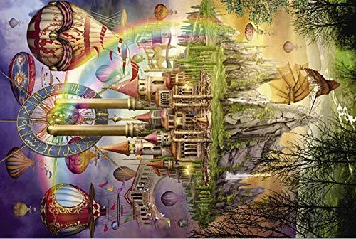1000 Stücke Puzzle Kinder Puzzle Landschaft Puzzles Nachtleuchtende Lernspielzeug Für Kinder Erwachsene...