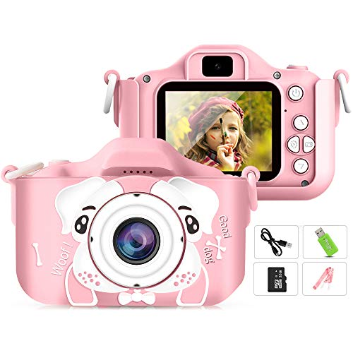 Airbin Kinderkamera, Digitalkamera für Kinder 2,0 Zoll IPS-Bildschirm 12MP HD Kindervideokamera Kinder...