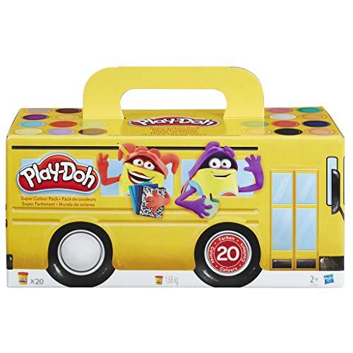 Hasbro Play-Doh A7924EU6 - Super Farbenset 20er Pack Knete, für fantasievolles und kreatives Spielen