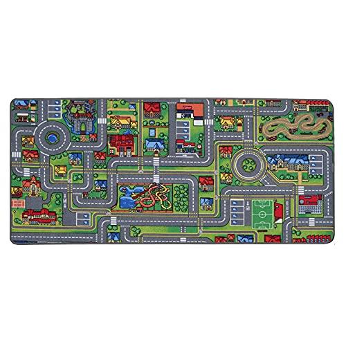 Spielteppich mit Straßen - Streets, 95x133 cm, Pflegeleicht, Fußbodenheizung Geeignet, Spielmatte,...