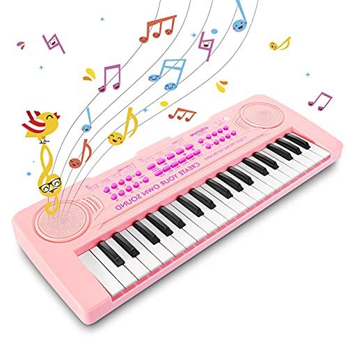 Innedu Mini Piano Keyboard Spielzeug, 37 Tasten Musical Keyboard mit Tiergeräuschen, Demo Songs, Drum...