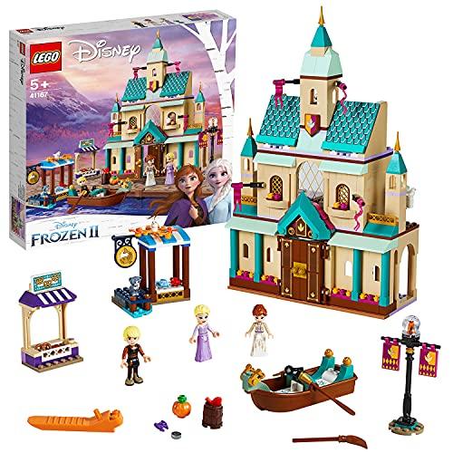 LEGO 41167 Disney Princess Frozen Die Eiskönigin 2 Schloss Arendelle, Bauset mit Anna, ELSA und Kristoff...