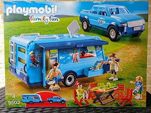 PLAYMOBIL® 9502 - Family Fun - Pick-Up mit Wohnwagen