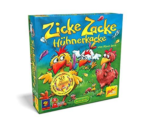 Zoch 601121800 Zicke Zacke Hühnerkacke, Kinderspiel 1998, rasantes Gedächtnisrennen, für Kinder ab 4...