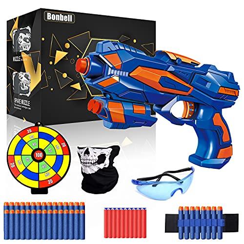 Pistole für Kinder, Gewehr Kinder mit 40 Schaumstoff Munition + Schutzbrille + Darts Handgelenkband,...