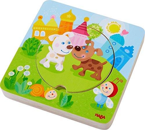 HABA: Holzpuzzle 'Kunterbunte Tierkinder'