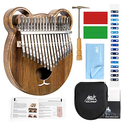 AKLOT Kalimba 17 Schlüssel Marimba Daumen Klavier Massivholz Finger Piano Mbira afrikanisches Instrument...