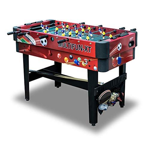 Carromco Multigame 14 in 1 Spieletisch - Multifunktionstisch mit 14 Tischspielen - flexibel einsetzbar...