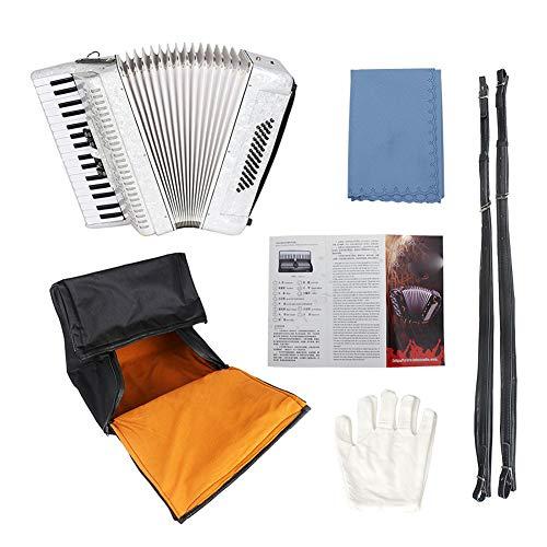 NUYI 34 Key 48 Bassakkordeon Musicalinstrument Akkordeon Weiß Anfänger Erwachsene Musikinstrument...
