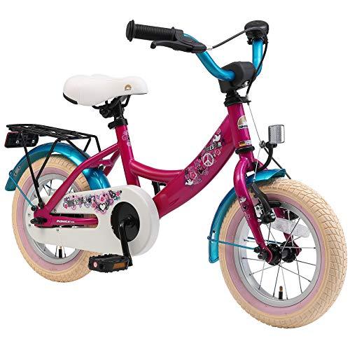 BIKESTAR Kinderfahrrad für Mädchen ab 3-4 Jahre | 12 Zoll Kinderrad Classic | Fahrrad für Kinder Berry...