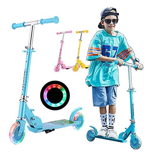 Kinder Scooter Klappbar, Soldow Kickscooter Kinder Roller Tretroller Cityroller Höhenverstellbarer...