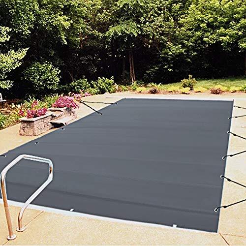VEVOR Pool Abdeckplane Rechteckig 4 x 8 m Schwimmbadabdeckung, wasserdicht Holzkohle-Farbe Abdeckplane...