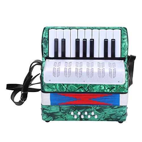 Dilwe Akkordeon, Mini Kleine 17 Tasten 8 Bass Akkordeon Pädagogisches Musikinstrument Spielzeug für...