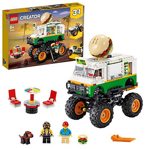 LEGO 31104 Creator 3-in-1 Burger-Monster-Truck - Geländewagen - Traktor, Bauset